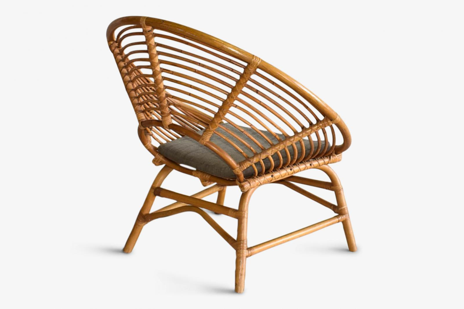Chair 34in Round Bamboo