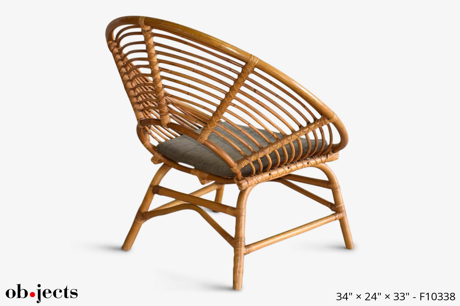 Chair 34in Round Bamboo Ob Jects