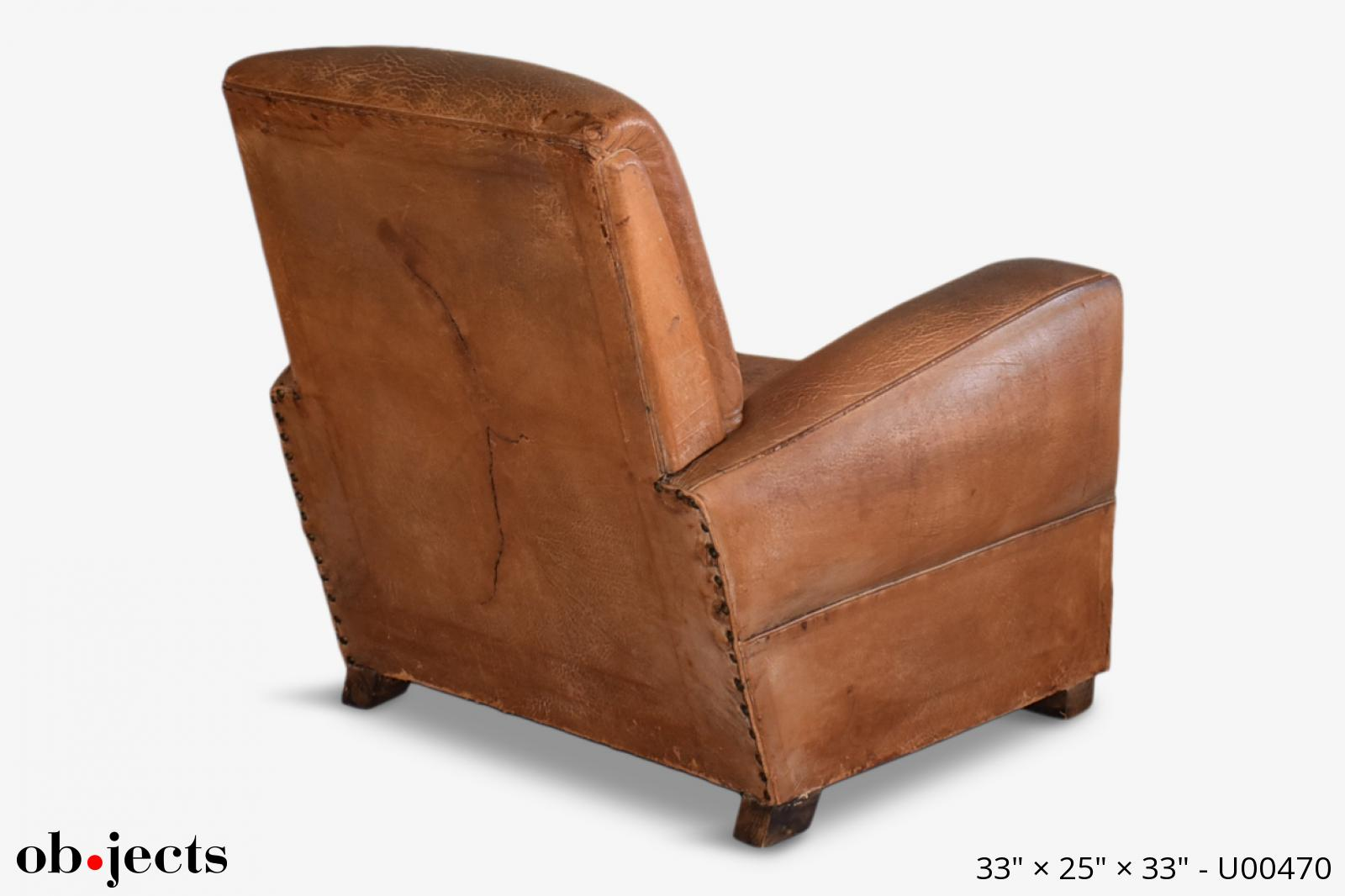 Astounding Chair Club Vintage Cognac Distressed Leather Objects Camellatalisay Diy Chair Ideas Camellatalisaycom