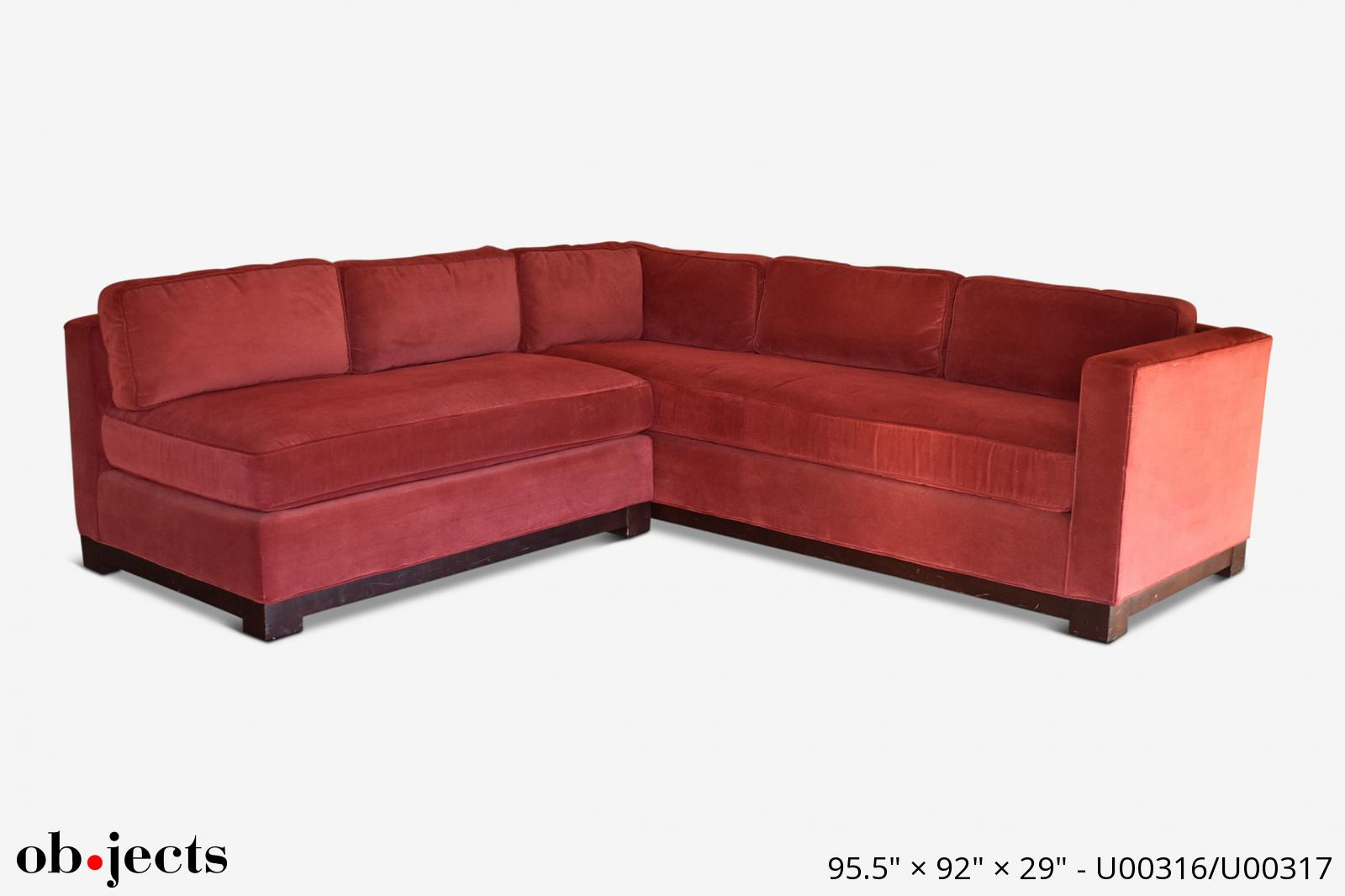 Sectional Red Corduroy | Ob•jects