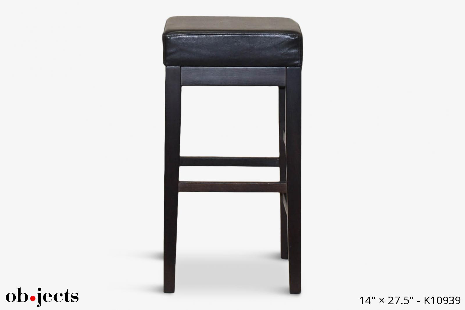 Sensational Stool Square Black Seat Dark Brown Legs Objects Ncnpc Chair Design For Home Ncnpcorg