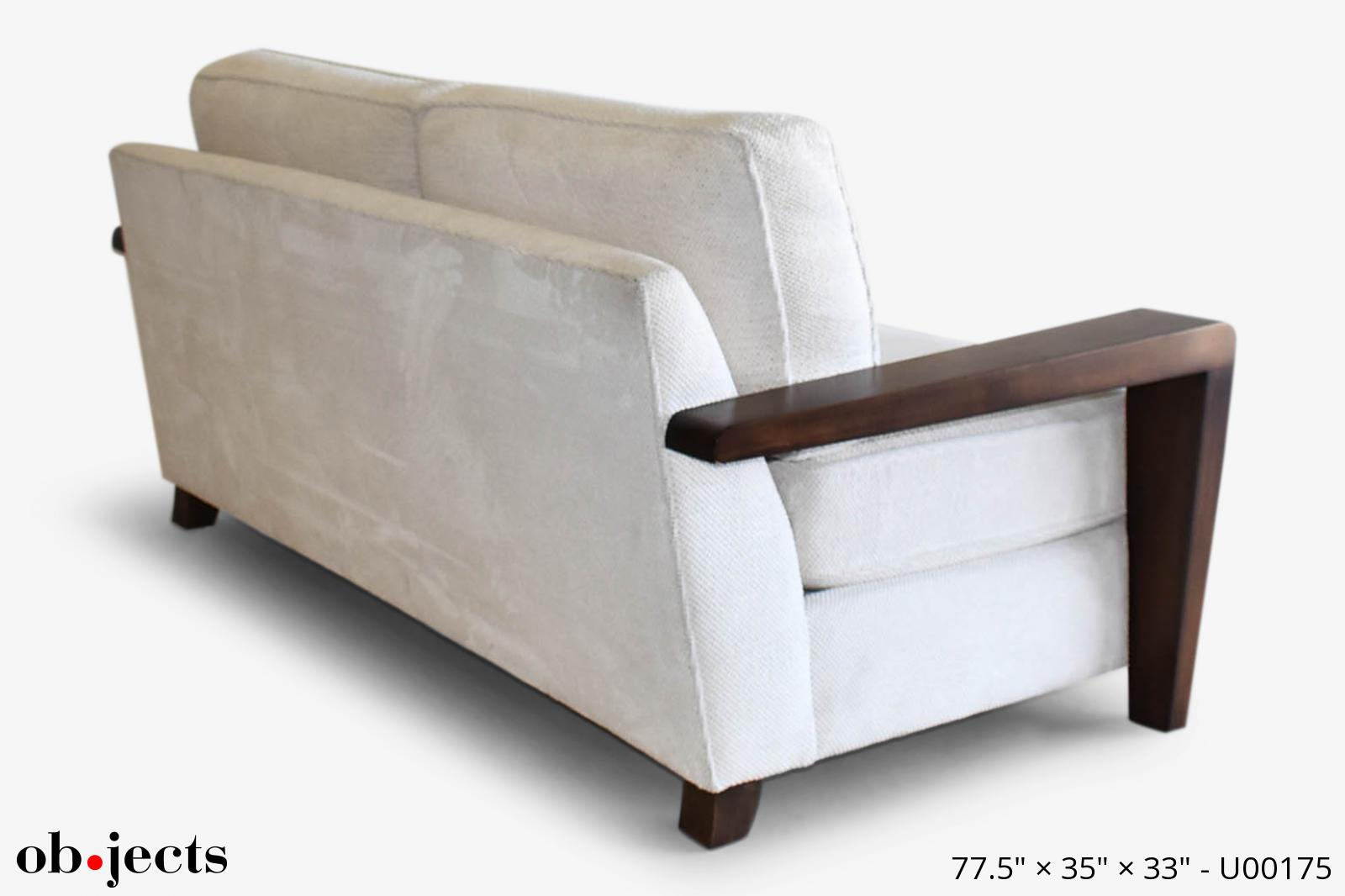 Miraculous Sofa Off White Boucle W Walnut Arms Objects Gmtry Best Dining Table And Chair Ideas Images Gmtryco