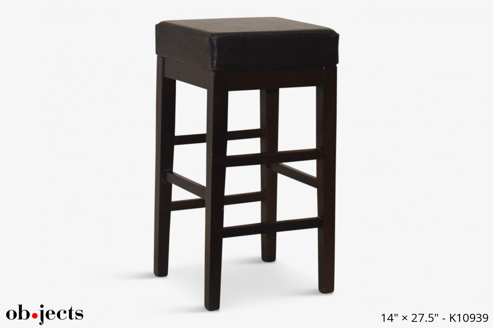 Fine Stool Square Black Seat Dark Brown Legs Objects Ncnpc Chair Design For Home Ncnpcorg